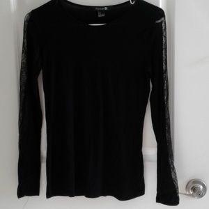 Forever 21 Black long sleeve shirt sz S